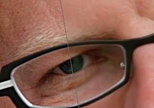 """Mit Noiseware können Porträts """"verschönert"""" werden: Falten und Hautunreinheiten verschwinden. (c) Oliver Spalt"""
