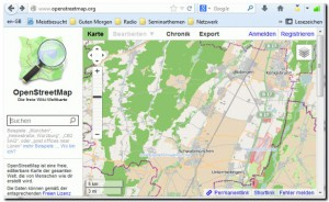screenshot openstreetmap